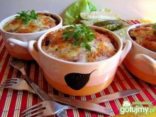 Kociołek ryżowo - mięsny pod kołderką