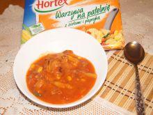 Kociołek węgierski z warzywami na patelnie