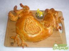 Kogut w cieście faszerowany kurczakiem