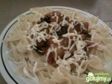 Kokardki z bakłażanem i mozzarellą