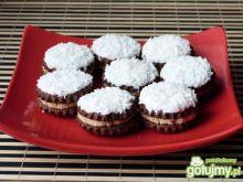 Kokosowe ciasteczka z orzechową masą