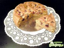 Kokosowe ciasto z malinami i jeżynami