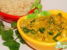 Kokosowe curry z groszkiem wg Buni