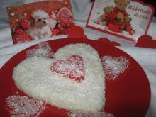 Kokosowe walentynkowe serce