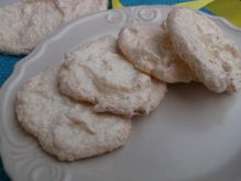Kokosowo - bezowe ciasteczka