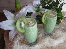 Koktaj zielona energia z kiwi, szpinakiem,limonką