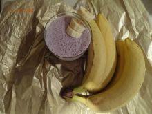Koktajl bananowo - borówkowy