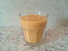 Koktajl bananowo - pomarańczowy z płatkami