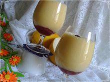 Koktajl brzoskwiniowo-melonowy z malinową nutką