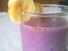 Koktajl jagodowo-bananowy