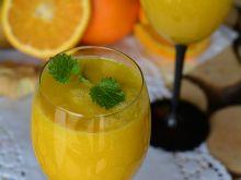 Koktajl pomarańczowo-gruszkowy z nutą imbiru