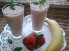 Koktajl truskawkowo - bananowy