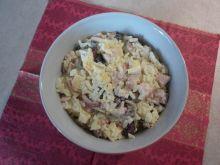 Kolacyjna sałatka ryżowo - kurczakowa