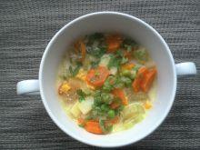 Kolorowa gęsta zupa warzywna
