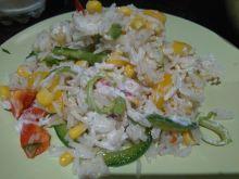 Kolorowa sałatka ryżowa