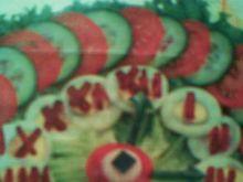 Kolorowa sałatka-zegar
