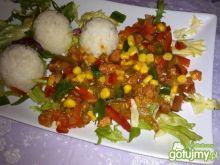 Kolorowa - wiosenna potrawka z ryżem
