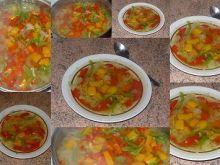 Kolorowa zupa kapuściano-paprykowa