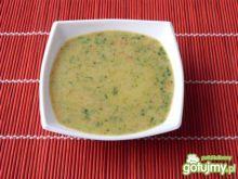 Kolorowa zupa krem ze szpinakiem
