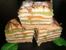 Kolorowe ciasto z soków
