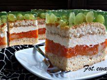 Kolorowe jesienne ciasto