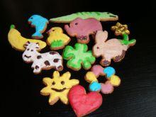 Kolorowe lukrowane ciasteczka