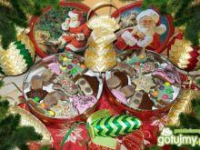 kolorowe pierniczki świąteczne