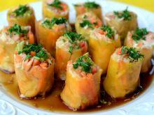 Kolorowe pyszne wiosenne rollsy
