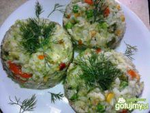 Kolorowe risotto z brokułami