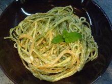 Kolorowe spaghetti w trzech serach