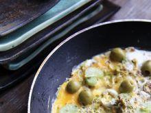 Kolorowy omlet zimowy