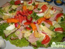 Kolorowy talerz z przekąskami wg Elfi