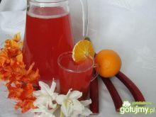 Kompot rabarbarowo pomarańczowy