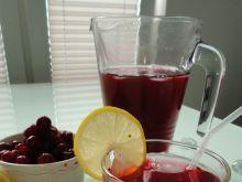 Kompot wiśniowy z nutką cytryny