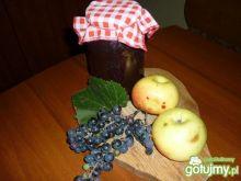 kompot z jabłek i winogron