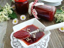 Konfitura truskawkowa z rabarbarem i kwiatem bzu