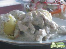 Koperkowo- śmietanowy kurczak