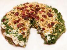 Kopiec szpinakowy z serem i żurawiną