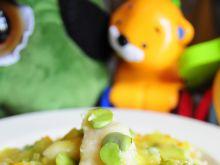 Kopytka z warzywami w sosie cebulowym