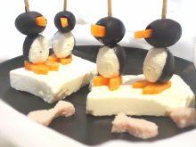 Koreczki - pingwinki