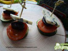 Koreczki z grillowanych warzyw