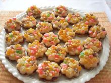 Korzenne ciasteczka jak kwiatki