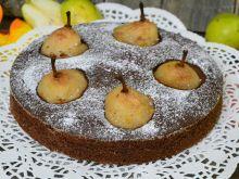 Korzenne ciasto z gruszkami