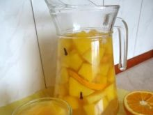 Korzenny kompot z dyni i pomarańczy