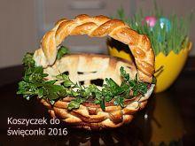 Koszyczek drożdżowy do święconki 2016