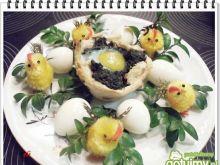 Koszyczki Eli z jajkami przepiórczymi