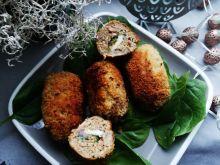 Kotleciki faszerowane szpinakiem i serem