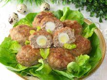 Kotleciki mielone z jajkami przepiórczymi