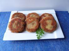 Kotleciki serowo-ziemniaczane z pieczarkami