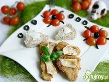 Kotleciki sojowe z camembertem